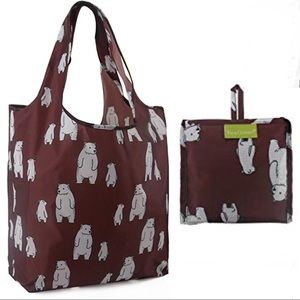 Polar bear reusable grocery bag